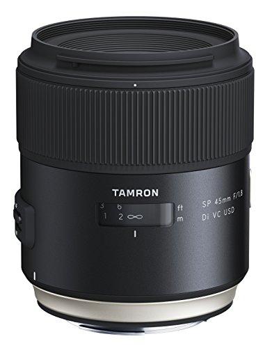 Tamron SP - Objetivo para Canon DSLR (Distancia Focal Fija 45 mm, Apertura f/1.8, Di, VC, USD, diámetro Filtro: 67 mm), Negro