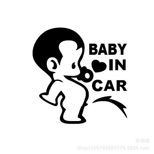 Bebé en la Etiqueta engomada del Coche Personalidad Cofre Creativo (Color : 1)