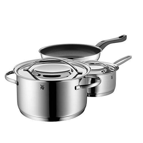 WMF Gala Plus Set Batería de Ollas, 3 Piezas, Apta para Todo Tipo de Cocinas Incluso Inducción, Acero Inoxidable, Ø 20...