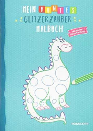 Mein buntes Glitzerzauber Malbuch (Drache): Mit bunten Glitzerkonturen (Malbücher und -blöcke)