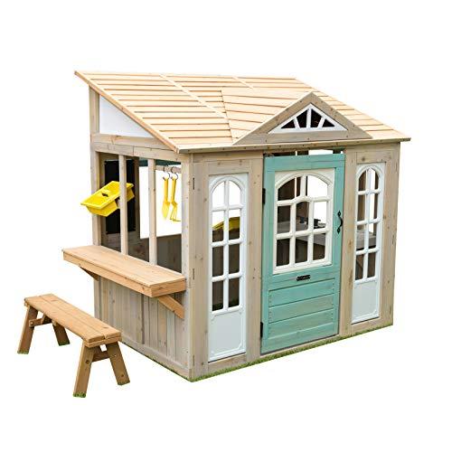 KidKraft- Casa de Juguete de Exteriores Jardines y Patios Meadowlane Market Play Kitchen, Color...