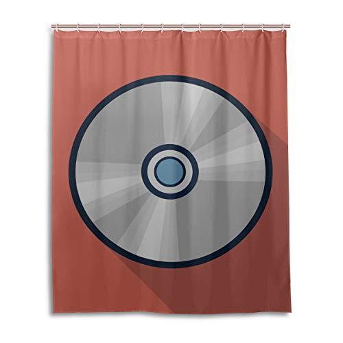 GIRLOS Coloridos Efectos de refracción en DVDs Cortinas para Hombre para baño Resistente al Agua…