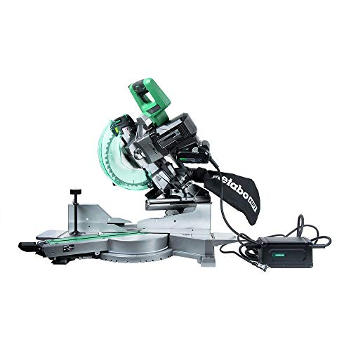 "Metabo HPT MultiVolt C3610DRA 10"" Dual Bevel Sliding Miter Saw, Powered by Revolutionary AC Adapter (Included) or Optional 36V Battery, Adjustable Laser Marker, Zero Rear Clearance Slide Rails"