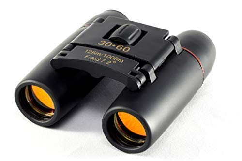 Compact Mini Binoculars - Ideal for Adults and Kids - High Powered and Lightweight, Enhanced Low Light Vision, High Powered Lens, Protective Rubber, 30 x 60