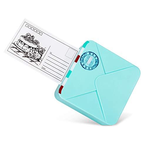 Phomemo M02S Minidrucker Fotodrucker Bluetooth Drucker Thermodrucker Tragbarer Mobiler Drucker, 300 DPI HD-Druck mit 3 Druckgrößen, für Studiennotizen, Memos, Fotodruck, Arbeitsliste, Grün