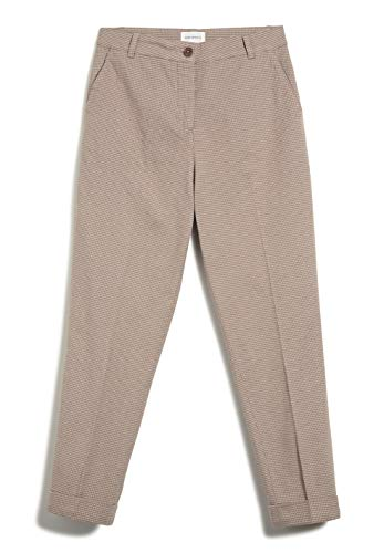 ARMEDANGELS Damen Hose aus Bio-Baumwolle - HELLAA - L Dark Caramel 97% Baumwolle (Bio), 3% Elasthan Hose Stoffhose