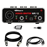 WRIGHT WR12 USB Audio Interface for recording studio Sound Master inbuilt phantom power supply Sound Card Preamp for wr bm 800 Condenser Microphone to connect Smartphone and Laptop