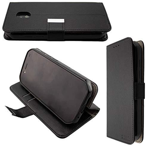 caseroxx Handy Hülle Tasche kompatibel mit Cat S42 / S42 H+ Bookstyle-Hülle Wallet Hülle in schwarz