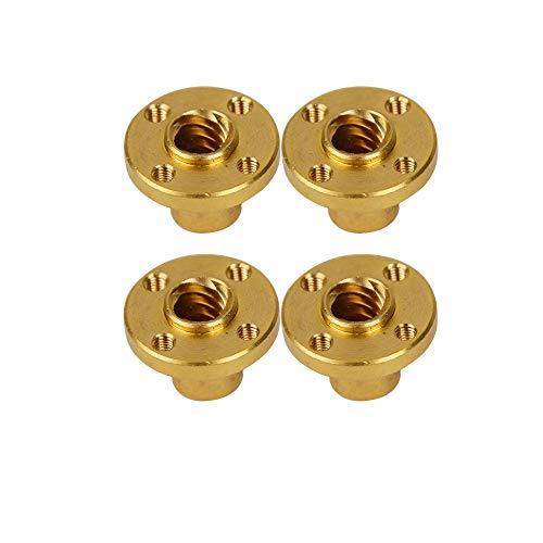 SOOWAY 4 Stücke Messing T8 Schraubenmutter Trapez für 8mm T8 Blei Gewindestange 3D Drucker Reprap Teile Z-Achse