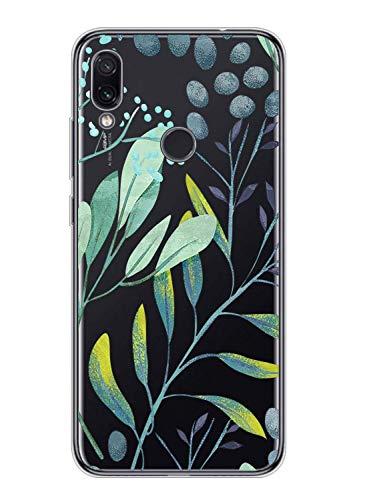 Suhctup Compatible pour Xiaomi Pocophone F1 Coque Silicone Transparent Ultra Mince Étui avec Clear Mignon Fleurs Motif Design Housse Souple TPU Bumper Anti-Choc Protection Cover,A9