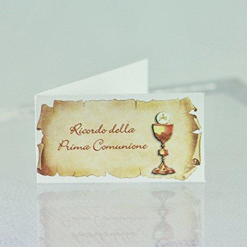 Il Villaggio degli Sposi 20 Bigliettini bomboniera PRIMA COMUNIONE con calice