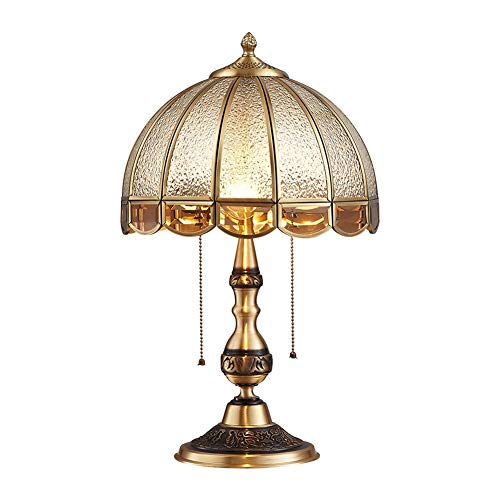 DYB Lampada da Tavolo Design Moderno Lampada da Tavolo Americana in Rame Lampada da Comodino Lampada da Tavolo in Cristallo luci Decorative Soggiorno Camera da Letto casa lampade da Camera da Letto