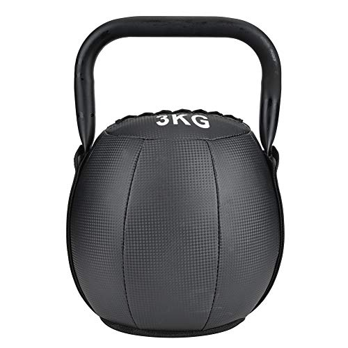 Alomejor Kugelhantel 3KG Sport Kettlebell Fitness Hantel Muskeltraining Gewichtheben Fitnessgeräte