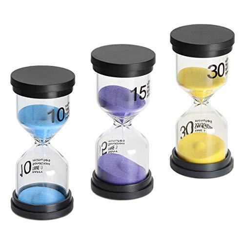 Sand Timer 3 Pack,Sageme Hourglass …