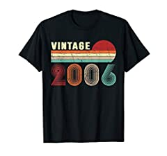 Born in 2006 retro vintage 2006 is a perfect 14 years old 14th birthday gift apparel for kids. It makes a great bday party gifts idea for 14 years old kids, son, sister, brother, children or anyone who are turning 14 years This is the best bday gift ...