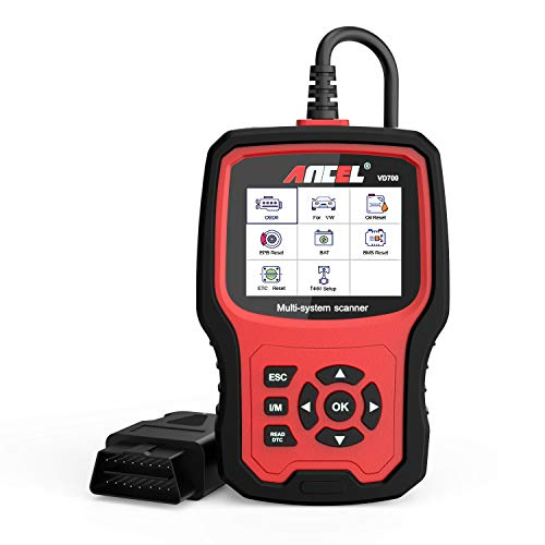 ANCEL VD700Pro Alles System KFZ OBD2 Diagnosegerät mit 8 Sonderfunktionen für VAG Fahrzeuge mit Öl TPMS EPB TPS Injektor Funktion SAS DPF Reset