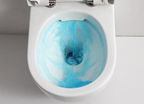 SSWW Design Hänge WC Spülrandlos Toilette inkl. WC Sitz mit Softclose Absenkautomatik + Abnehmbar - 3
