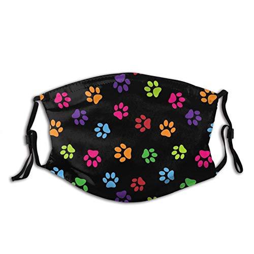 Hirola Paw Watercolo Print Gesichtsmaske Waschbar Hund Tier Sturmhaube Staubdicht Wiederverwendbar Maske mit Outdoor