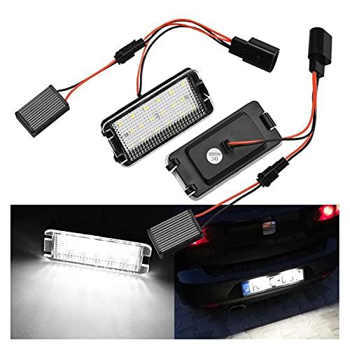 WYYUE 2 Piezas Auto de Luces LED para matrículas, lámparas de luz...