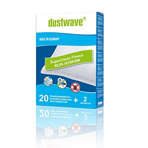 Dustwave® Megapack Lot de 20 sacs d'aspirateur compatibles avec Miele S192 (à partir de 2011) + micro filtre