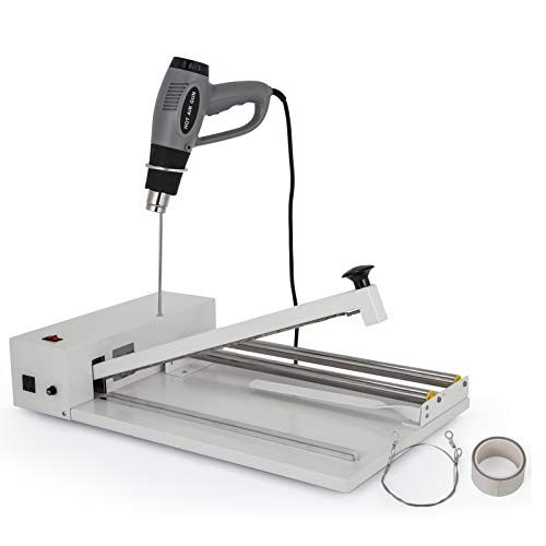 BestEquip 12 Inch I-Bar Shrink Wrap Machine with Heat Gun, Shrink Wrap Sealer Machine 450W, I-bar Sealer Compatible with PVC POF Film Suitable for Both Home and Commercial Use
