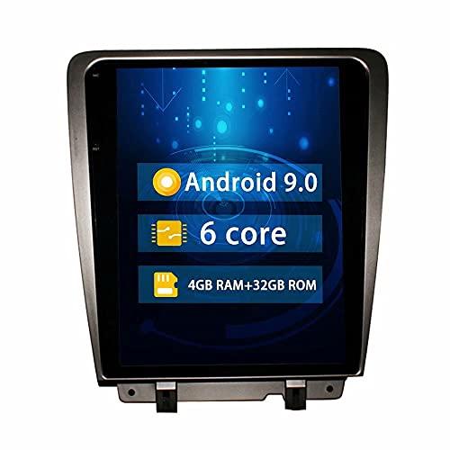 ROADYAKO Indash Android 9.0 Unidad Principal de automóvil Radio estéreo para Ford Mustand 2010 2011 2012 2013 Navegación GPS para automóvil 4G WiFi RDS Bluetooth FM Am Control del Volante