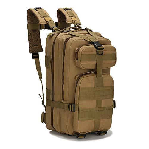PULUSI Mochila táctica militar de 20 a 35 litros para asalto del ejército, mochila Molle Bug Out, mochila para senderismo al aire libre, camping, escalada (17 x 9.5 x 8.5 pulgadas,caqui)