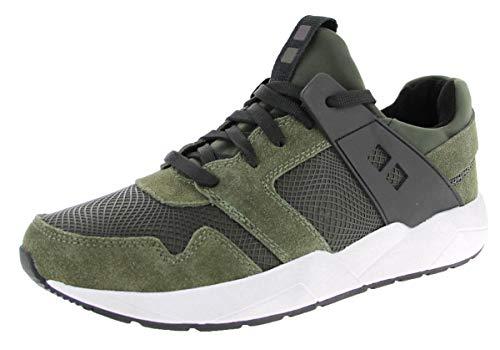 Mundart Herren Sneaker 216-ZFA Olive (grün) - Sneaker (grün) - Herrenschuhe Sneaker/Schnürschuh, Grün, Leder/Textil/Synthetik (Velour/mesh/neopren) Oliv 231075