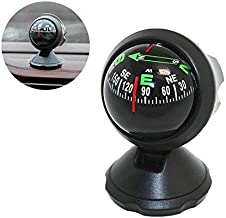 Pawaca Car Compass Ball, Self-adhesive Auto Dashboard Mini Compact Compass and Decorative Ornaments, Universal for Most Vehicles(Black)