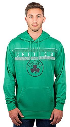Ultra Game NBA Boston Celtics Mens Fleece Midtown Pullover Sweatshirt, Team Color, Large