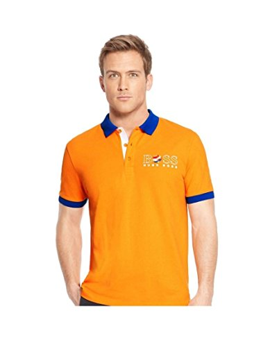 Hugo Boss New Orange Paddy PRO Flag Pays-Bas Holland Polo de football hollandais - Orange - Taille Unique