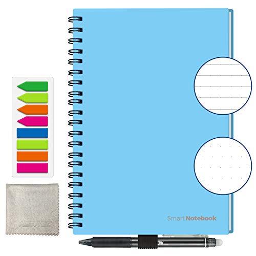 Notizbuch Wiederverwendbar HOMESTEC Größe A5, Cloud Storage und Idee Teilen,Blau