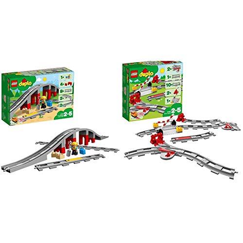 LEGO Duplo Town Vías Ferroviarias, Juguete de Preescolar + Duplo Town Vías Ferroviarias (10882) Juego para Bebes