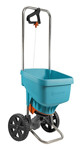 Gardena Spreader Xl: Universal Spreader for Delivering Fertiliser, Seeds and Salt, 1.5-6 m Spreading Width, for About 800 m sq of Lawn Area, 18 Litre Capacity, with a Locking Slide (436-20)