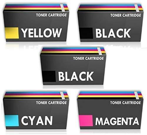 Prestige Cartridge TN241/TN245 - Paquete de 5 tóneres de tinta para Brother, multicolor