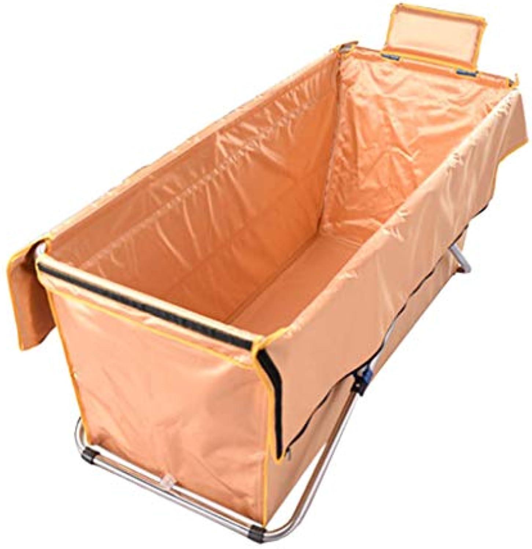 ZHYXJ-Bathtub Faltende Badewanne füR Erwachsene-Badewanne-Tragbare Badewanne Wasserdicht Gepolstert Warm SPA Outdoor Travel 89x44x52cm Orange