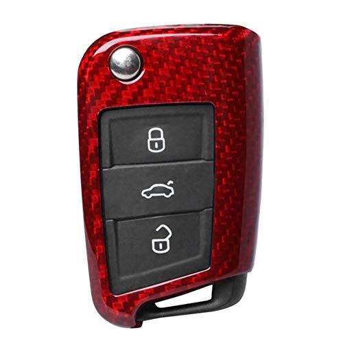 Zjxfff Cubierta de la Caja de Shell de la Llave del Control Remoto de FiberCar, para VW Golf Passat Beetle 2015 2016 2017 2018
