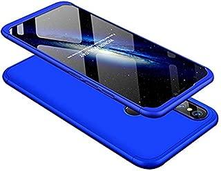 Huawei P20 Lite Kılıf 3 in 1 360 Koruma Koyu Mavi Kapak