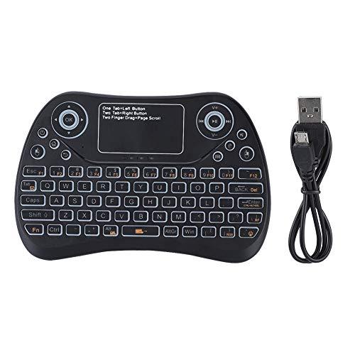 Rehomy Teclado inalámbrico teclado táctil inalámbrico inalámbrico con receptor USB para Android Windows Linux