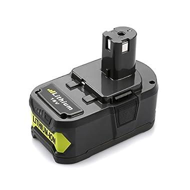 ANTRobut 4000mAh 18volt P108 Ryobi 18V Lithium Battery Replacement for Ryobi 18-Volt ONE+ P104 P105 P102 P103 P107 P108 P109 Tool