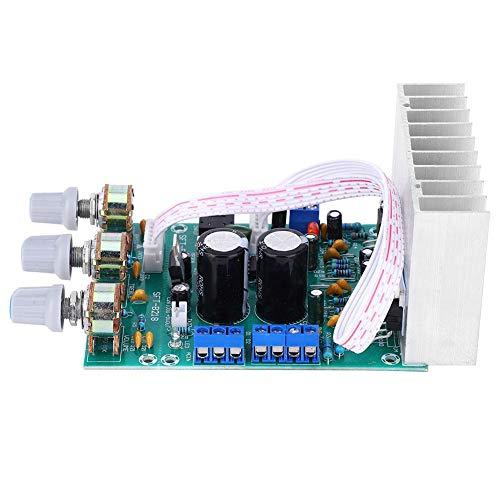 Placa amplificadora de 3 canales, bajo 2.1 15 W + 15 W componentes electrónicos de audio, partes terminadas, tamaño aproximado de la...