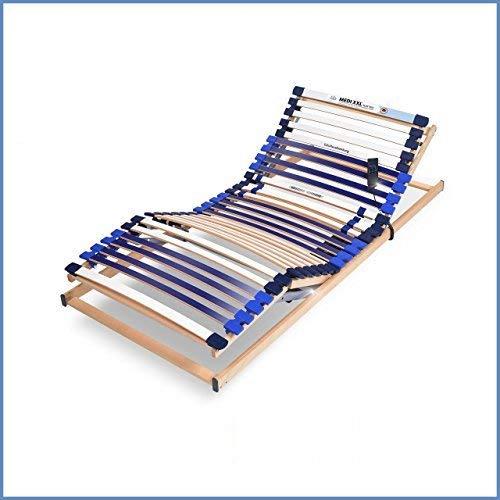 RAVENSBERGER MEDI XXL® 5-Zonen-30-Leisten-BUCHE- Schwergewichtsrahmen | Elektrisch | Made IN Germany | Blauer Engel - Zertifiziert | 90 x 200 cm | Funk-Fernbedienung