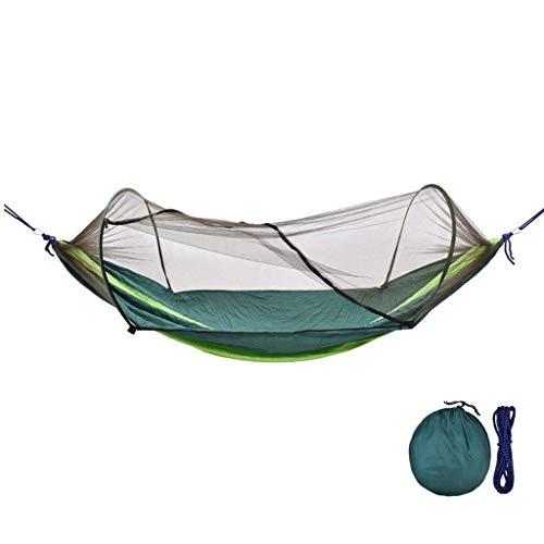 Swing Set para Niños Outdoor Swing con Mosquiteros la Haa Puede Llevar 200Kg Combo Swing Comodidad y durabilidad Gymqian/Verde oscuro