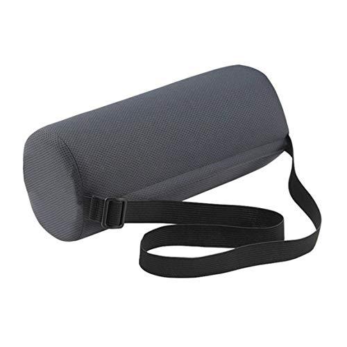 Pumprout Almohada de Apoyo Lumbar Enrollable para Asiento de Coche, Cilindro de Oficina, Protector de Cintura para Silla, Protector de Espalda, Alivio de la Fatiga Lumbar