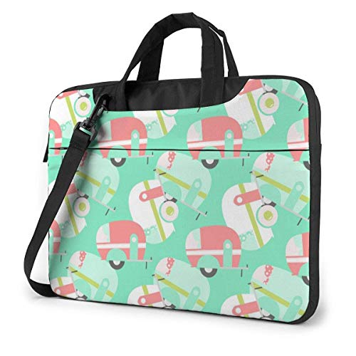 Happy Campre Van Pattern Mintgrüne Laptoptasche Notebook Computerschutzhülle Anti-Scratch-Handtasche Umhängetasche