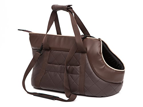 HobbyDog Hundetragetasche Hundetransporttasche Transporttasche Tragetasche Braun