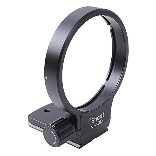 iShoot - Anillo de Soporte para Objetivo de trípode para Nikon AF 80-400 mm f/4.5-5.6D ED VR y Nikon AF-S NIKKOR 300 mm f/4D IF-ED Lentes Integrados, Arca-Swiss Fit Quick Release Plate