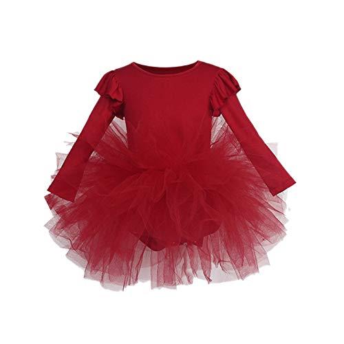 AILIEE Mädchen Kleidung Kinder Langärmelig Fliegende Hülse Ballett Tanzkleid Tutu...