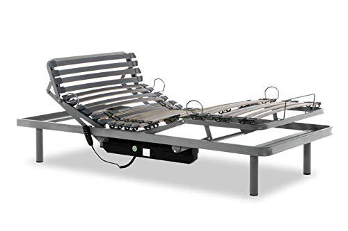 Gerialife® Pack Cama articulada Reforzada 5 Planos con colchón viscoelástico Tencel | Fabricado en España (105x190, Mando por Cable)