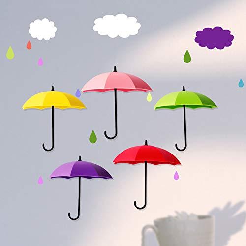 SANJIANG 6 PCS Colorful Umbrella Wall Rack Wall Key Holder Organizador De Llaves para Llaves Joyas Y Otros Artículos Pequeños
